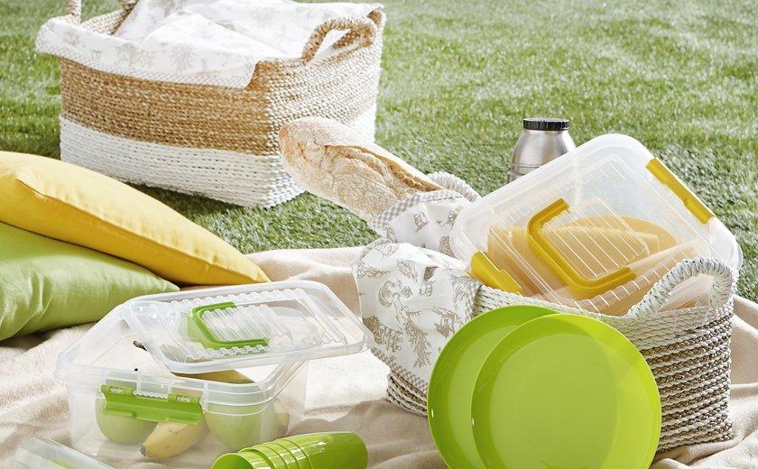 Poletne počitnice piknik barvne posode za shranjevanje