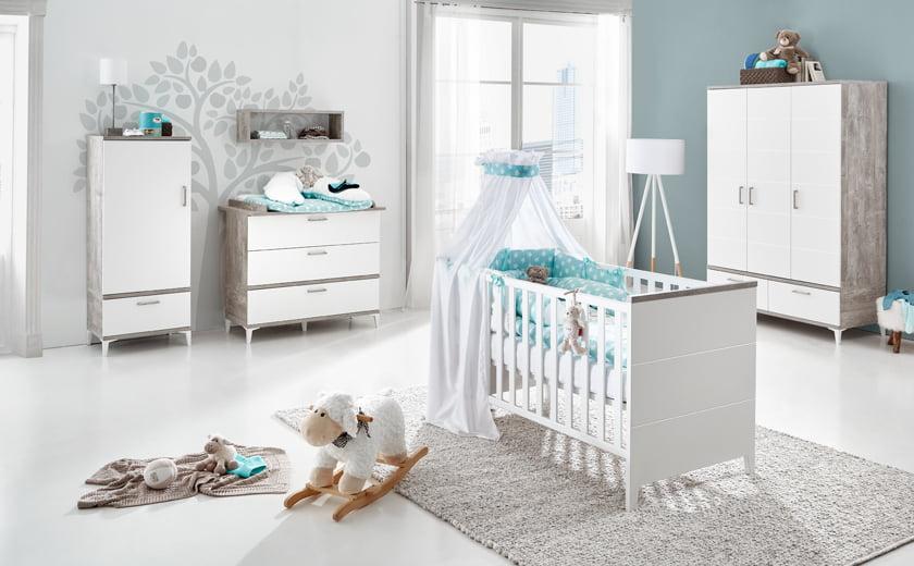 Soba za dojenčka skandinavska elegantna