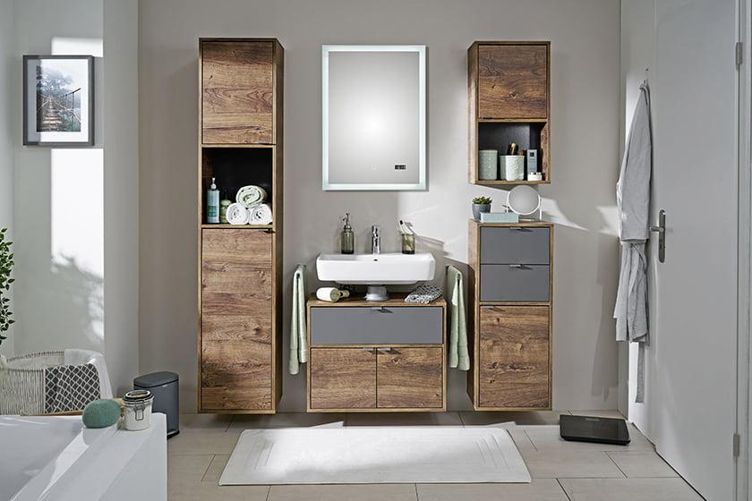 kopalnica les dekor brisače ogledalo preproga