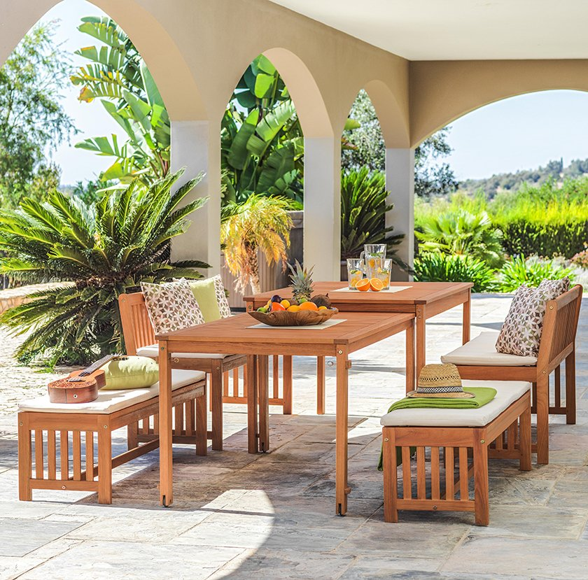 blazine za sedenje vrtne mize in klopi les dekor