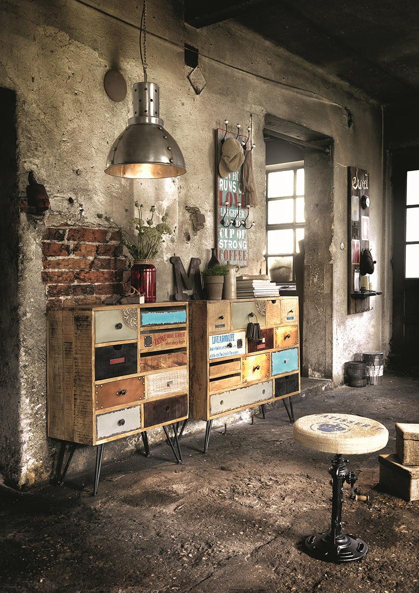 dnevna soba urban industrijski slog