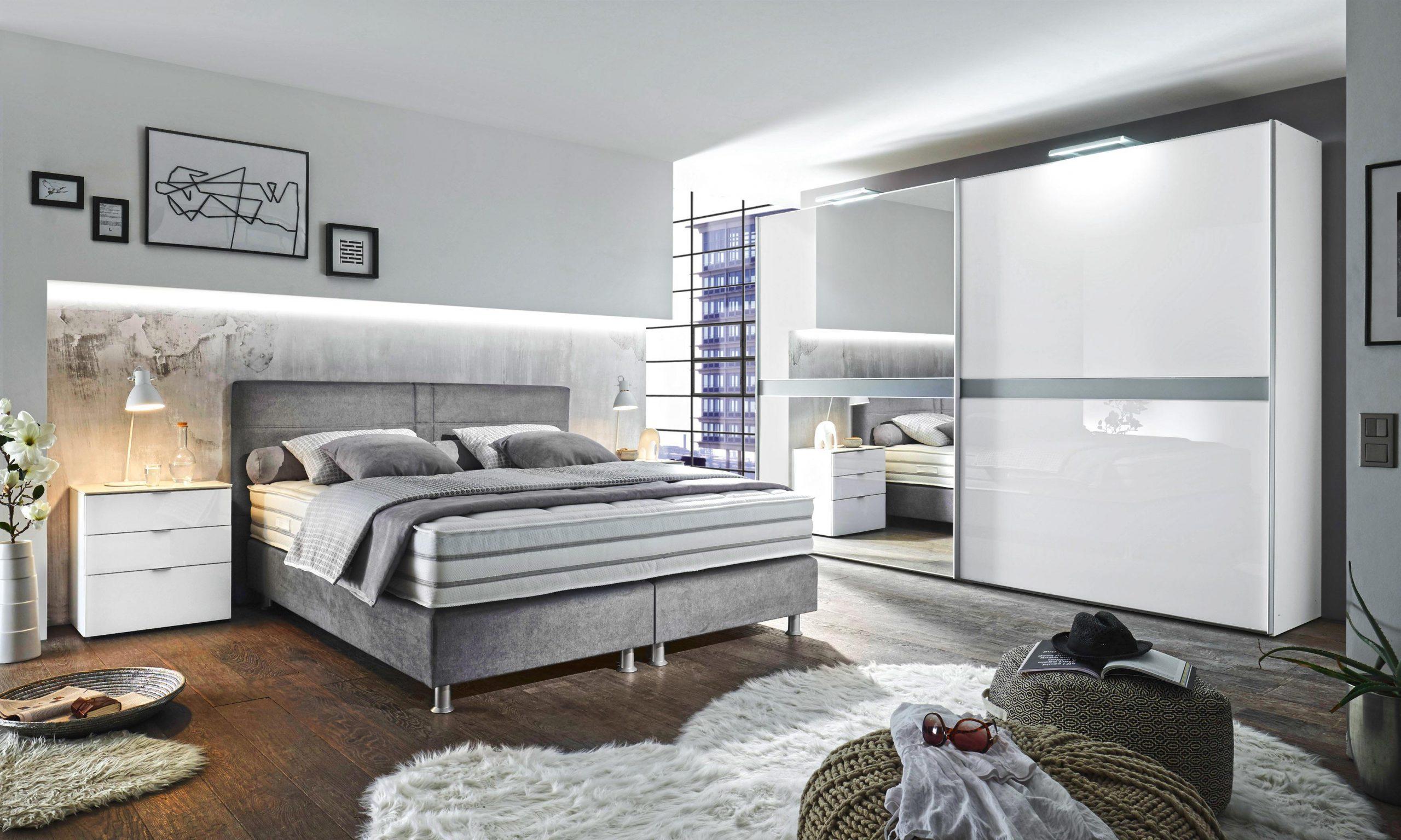 Oblazinjena postelja tekstil siva
