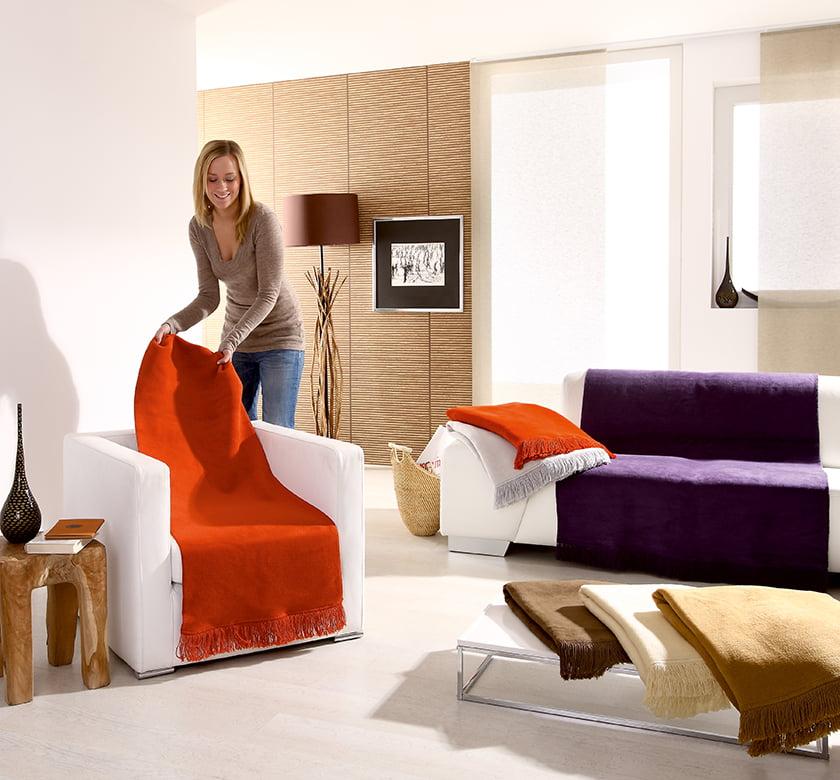 posteljnina raznobarvne odeje okras dekor zaščita