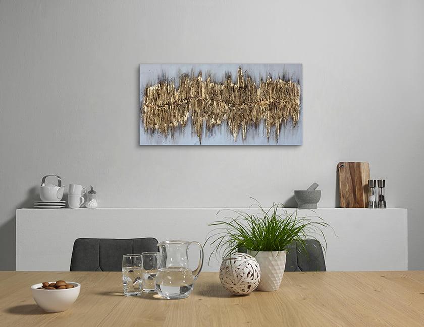 slika oljna jedilnica dekor eleganca