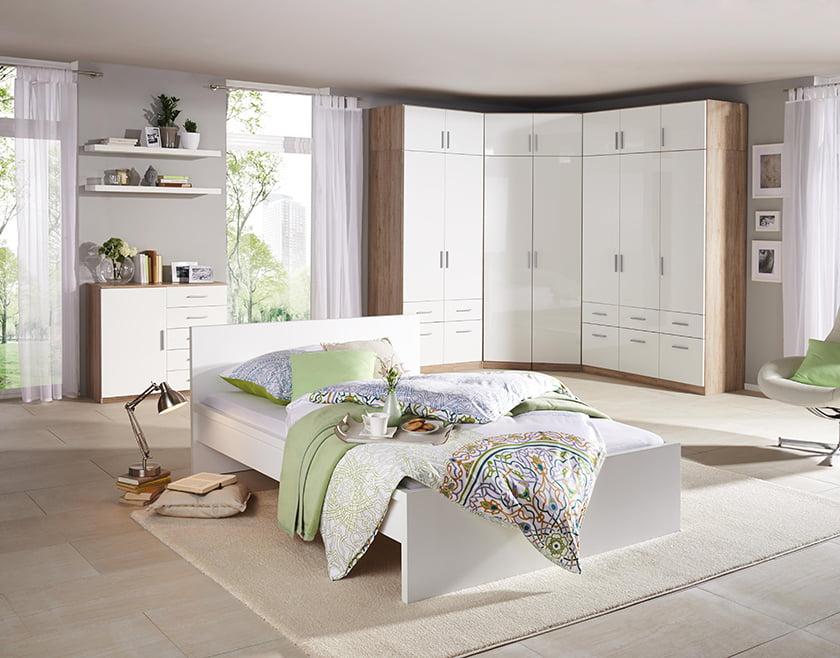 spalnica svetla dekor pohištvo