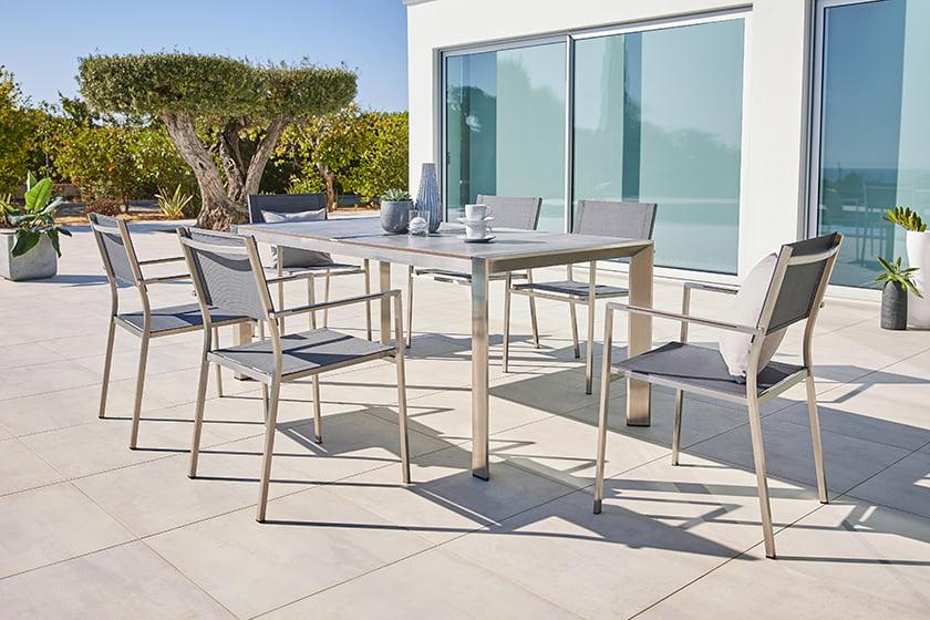 vrtna miza stoli kovina