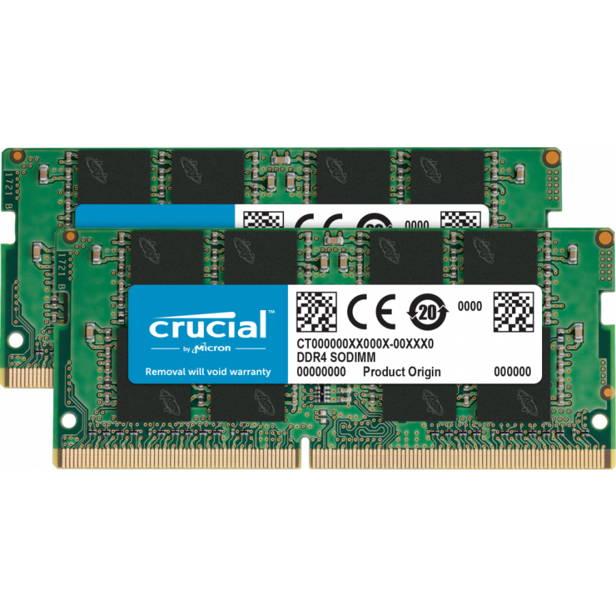 Crucial 16GB Kit (2 x 8GB) DDR4-2666 SODIMM PC4-21300 CL19