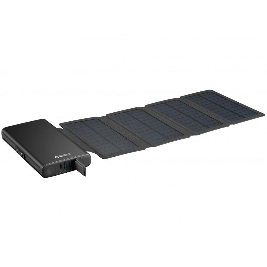 Sandberg 4 panelna solarna prenosna baterija 25.000 - Prenosna baterija Sandberg Solar 4-panel Powerbank 25000 vam resnično zagotavlja vso energijo