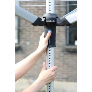 Brabantia zunanji sušilnik Lift-O-Matic Advance 60m + dodatki - Zelo lahko delovanje s sistemom Easy-Lift in brezhibno nastavljiv na vašo idealno