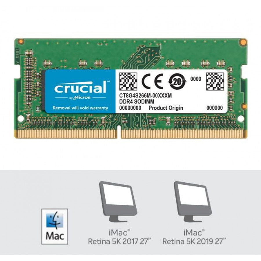 Crucial 8GB DDR4-2400 SODIMM PC4-19200 CL17