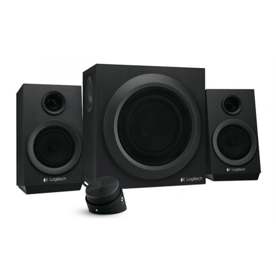 Logitech zvočniki 2.1 Z333 RMS 40W črni - Logitech Z333 2.1 zvočniki z močjo 40W RMS omogočajo visoko kakovost predvajane glasbe