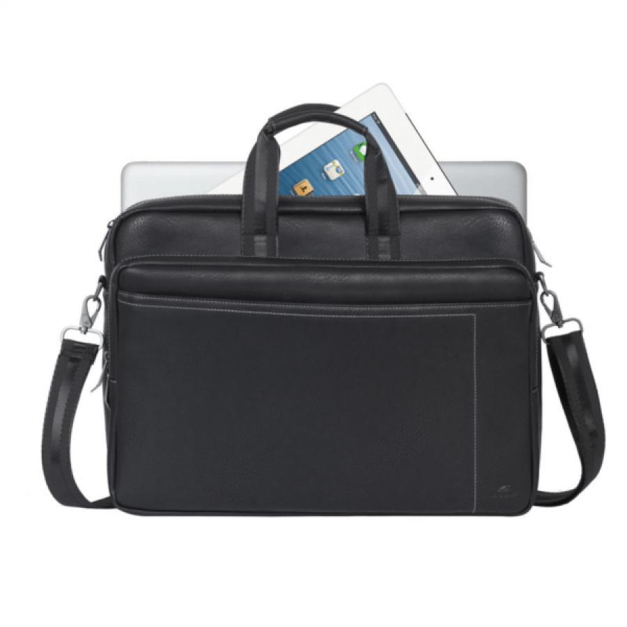 """RivaCase usnjena torba za prenosnik 16"""" črna 8940 - 16'' Torba za prenosni računalnik. Lastnosti proizvoda: • Torba je kompatibilna s prenosniki z"""