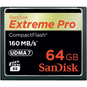 SanDisk 64GB Compact Flash Extreme PRO - tip: Compact Flash