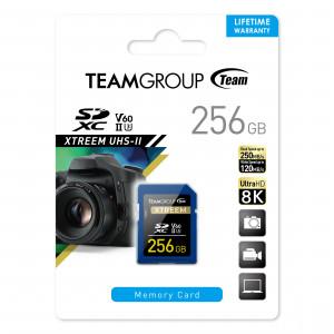 Teamgroup Xtreem 256GB SD UHS-II U30 250MB/s spominska kartica