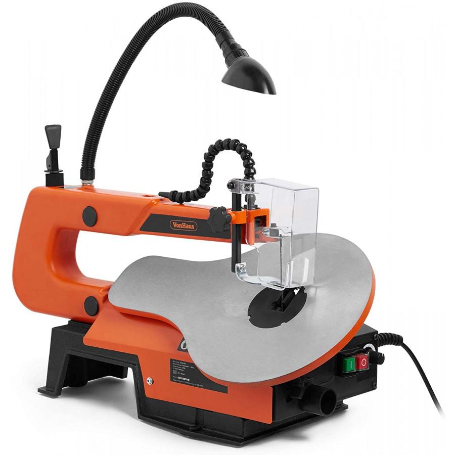 VonHaus 405mm dekupirna žaga z LED lučko 3500180 - 550-1600 hitrost rezanja in 1650-4800 vrt/min (RPM) za boljši nadzor in vsestranskost