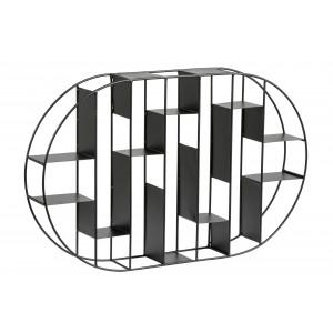 STENSKI REGAL 64/9/40 cm črna