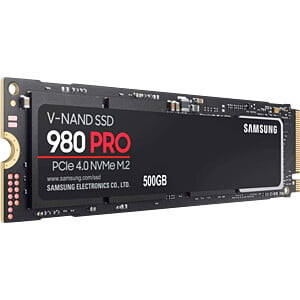 Samsung 500GB 980 Pro SSD NVMe/PCIe 4.0 x4 M.2 disk