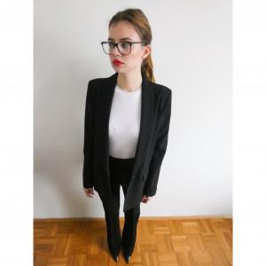 Črn suknjič Patrizia Pepe