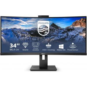 """Philips 346P1CRH 34"""" UltraWide ukrivljen monitor z USB-C """"docking"""" postajo za prenosnik"""