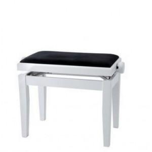 Stol klavirski FLIGH z dvižnim mehanizmom - beli