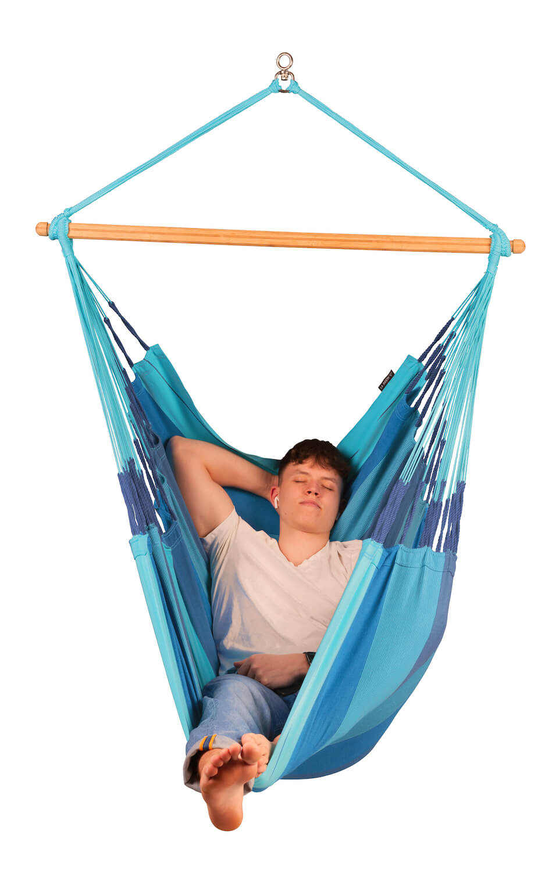 Comfort viseči stol iz bombaža HABANA Lagoon