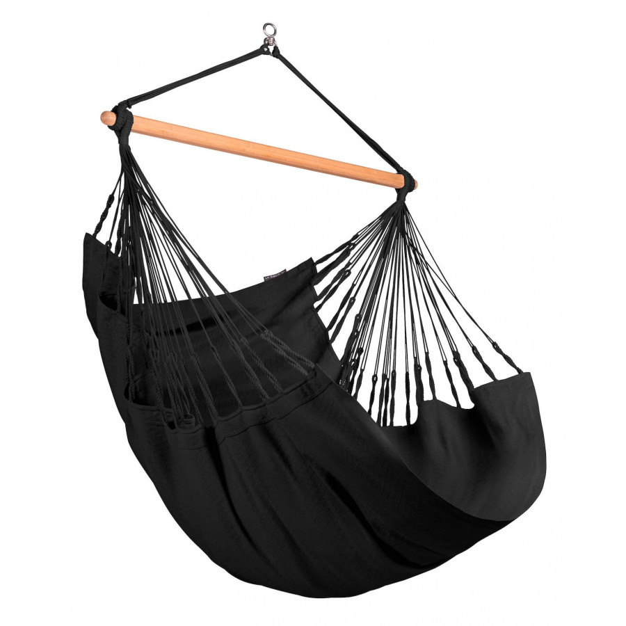 Comfort viseči stol iz bombaža HABANA Onyx