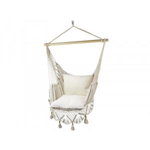 Comfort viseči stol s čipko Koala - Ecru