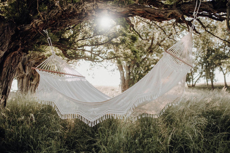 Družinska viseča mreža s palicami PALACIO Natura
