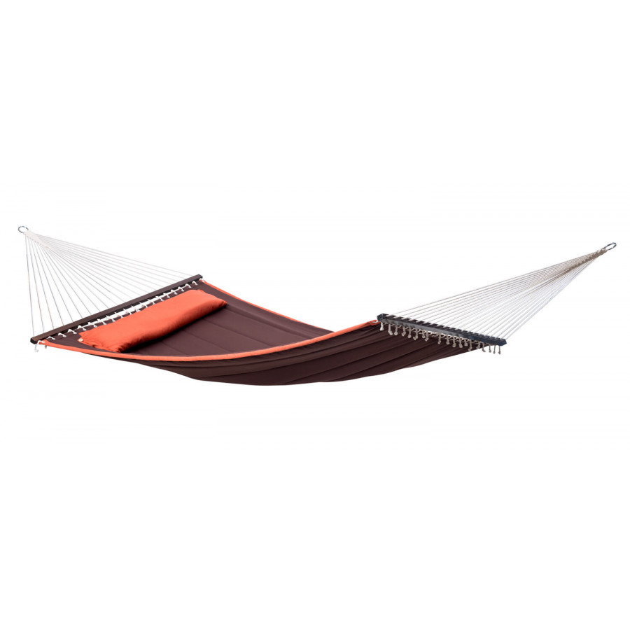 Družinska viseča mreža s palicami PALM BEACH Terracotta