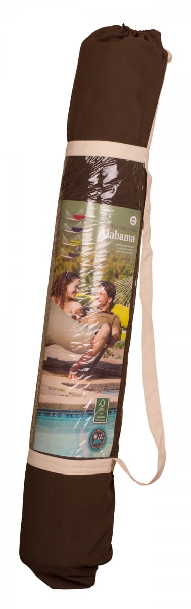 Družinska zunanja viseča mreža z robnimi palicami ALABAMA Arabica