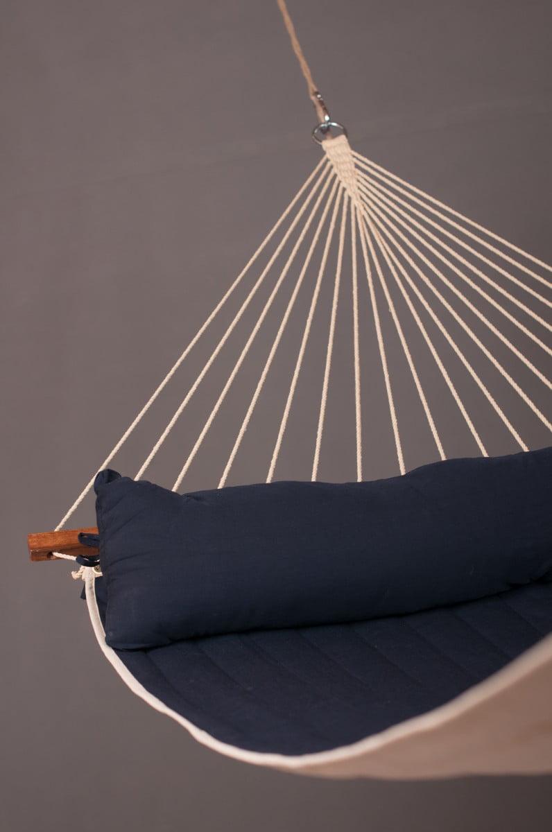 Družinska zunanja viseča mreža z robnimi palicami ALABAMA Navy Blue