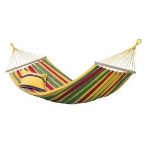 Dvojna zunanja viseča mreža s palicami ARUBA Vanilla