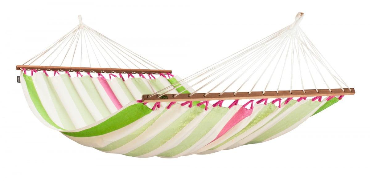 Dvojna zunanja viseča mreža z robnimi palicami COLADA Kiwi