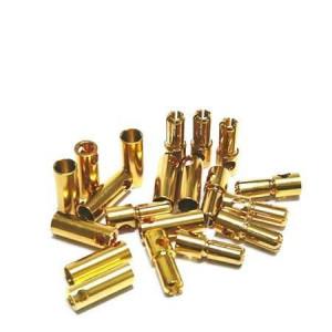 GOLD KONEKTOR BANANA 5mm PAR - Cena je za en par !