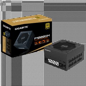 Gigabyte P1000GM 1000W GOLD modularni napajalnik - Moč: 1000WVentilator: 1×12cm Hydraulic Bearing HYB Priključki:ATX/MB 20+4 Pin x 1 : 610mm*1CPU/EPS