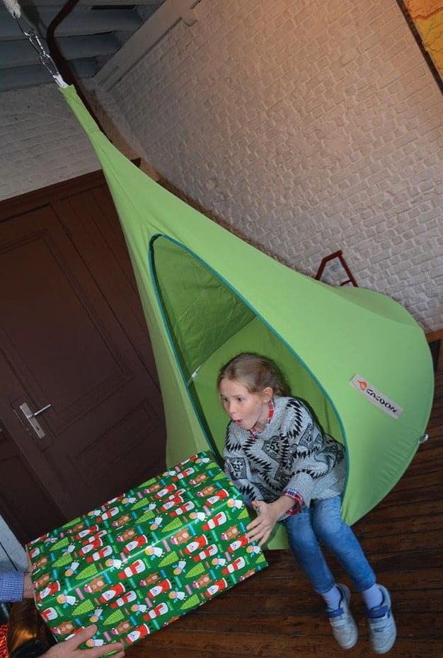 Otroški viseči šotor CACOON BEBO Leaf Green