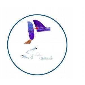 PROSTOLETEČE LETALO XL /470X490mm/LED OSVETLITEV/COLOR MIX - Lahka letala iz trpežnega in odpornega materijala na udarce. Aerodinamična oblika izboljša