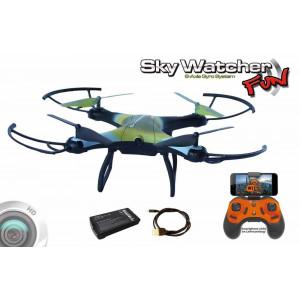QVADROKOPTER DRON SKYWACHER FUN/HD KAMERA/SLEDENJE/20MINUT LETENJA - SkyWatcher FUN - tukaj je quadrokopter z imenom!