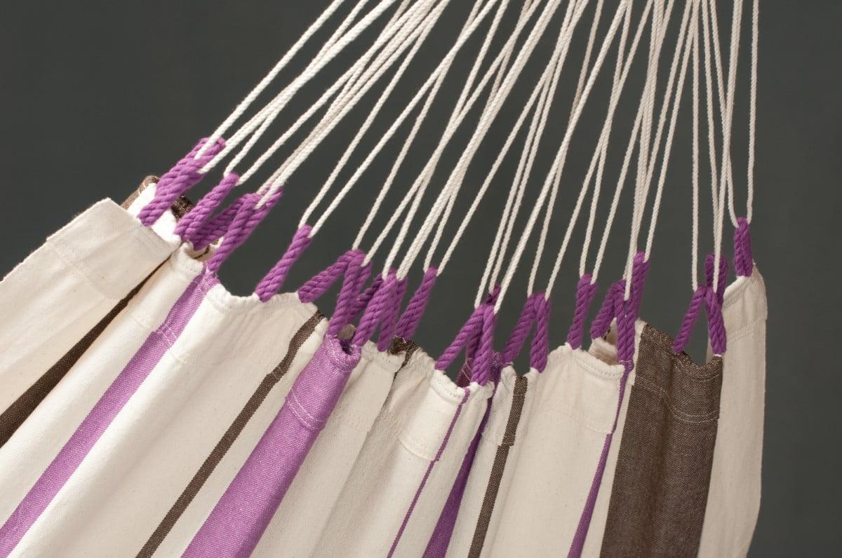 Viseča mreža iz bombaža CARIBENA Purple