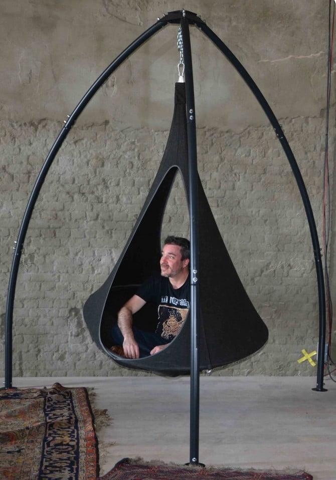 Viseči šotor Songo Vido Olefin CACOON Charcoal