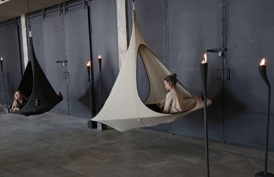 Viseči šotor Songo Vido Olefin CACOON Sand