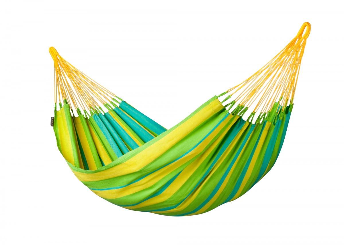 Viseče mreže La Siesta so vrhunske kvalitete. Preizkusite to enojno mrežo iz posebnega materiala HamacTex® - SONRISA