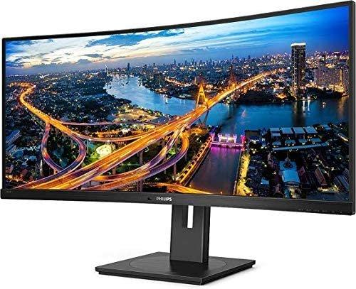 """Philips 346B1C 34"""" UltraWide ukrivljen monitor z USB-C """"docking"""" postajo za prenosnik"""