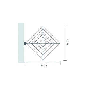24 m - Brabantia stenski sušilnik WALLFIX za perilo