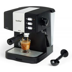 VonShef espresso kavni aparat 2000098 - Z VonShef ekspresso kavnim aparatom boste lahko doma uživali v okusu in polni aromi kave.