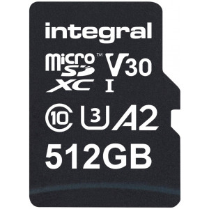 Integral 512GB Professional High Speed 180MB/s microSDXC V30 UHS-I U3