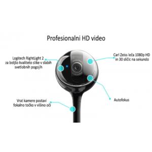 USB - Logitech BCC950 kamero za video konference odlikuje enostavna namestitev in uporaba. Sistemske zahteve