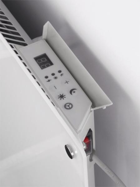 MILL konvekcijski panelni radiator 1200W bel steklo MB1200DN