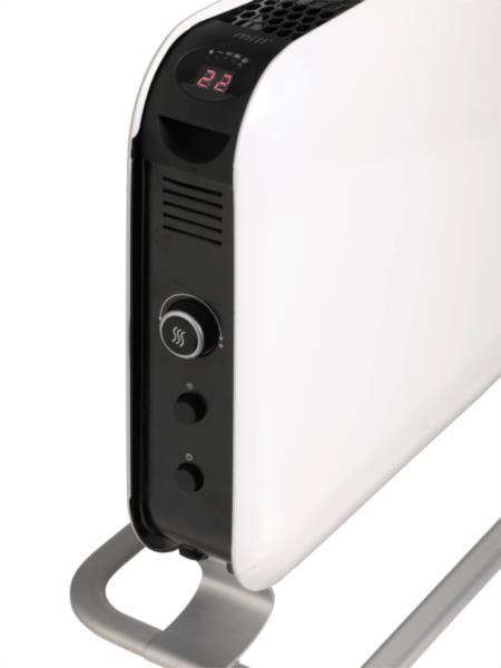 Mill konvektorski radiator jeklo LED 2000w