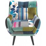 Fotelj večbarvno tekstil